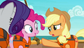 Applejack makes amends with Rarity and Pinkie S6E22.png