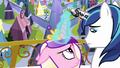 Cadance and Shining Armor looking at each other S3E2.png