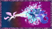 Celestia derrotando Nightmare Moon T1E01