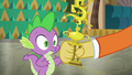 Discord giving Spike a dancing trophy S6E17.png