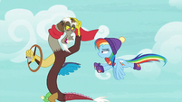 Discord offers to accompany Rainbow Dash MLPBGE