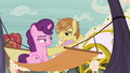 Feather Bangs inviting Sugar Belle on a carriage ride S7E8.png