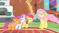 Fluttershy and the CMC S01E17