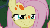 Fluttershy smirking confidently S7E20