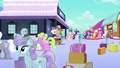Mane 6 at the Empire train station S3E12.png