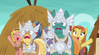 Mighty Helm shocked by Rockhoof's accomplishment S7E16