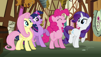 Pinkie Pie 'We'll deliver the care package to Rainbow Dash' S3E07