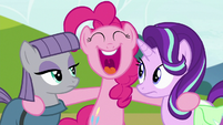 Pinkie Pie laughing at Maud's story S7E4