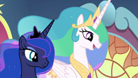 "Princess Celestia ""after much consideration"" S9E1"