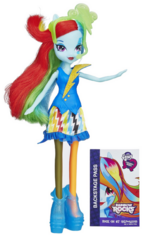 Rainbow Dash Equestria Girls Rainbow Rocks Neon doll