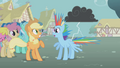 Rainbow Dash hit by lightning S01E06.png
