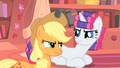 Rarity and Applejack almost argue again S1E08.png