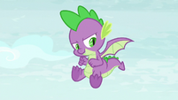 Spike about to attempt a flip S8E24