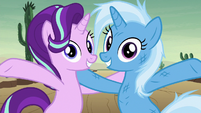 Starlight and Trixie finish their chant S8E19