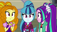 The Dazzlings hears Twilight EG2