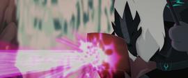 Twilight's magic bounces off Storm Guard's shield MLPTM