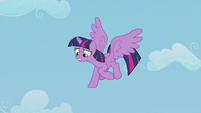 Twilight looking down at Spike S5E25