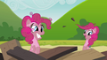 Another Pinkie clone coming out of the tower remains S3E03.png