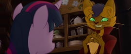 Capper looking embarrassed at Twilight MLPTM