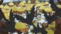 Crows flying over Yakyakistan MLPBGE