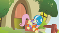 Fluttershy Scared of the door slam S1E7.png