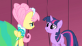 Fluttershy and Twilight backstage 2 S1E20.png