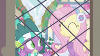 Fluttershy nodding to Spike MLPBGE