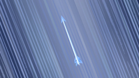 Ice arrow flying upward S4E24