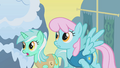 Lyra Heartstrings and pink-maned Sassaflash S1E11.png