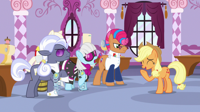 File:Photo Finish asks Applejack what is funny S7E9.png