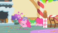 Pinkie Pie collapses on bedroom floor S1E25