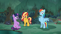 Rainbow Dash standing on her hind legs EGSB