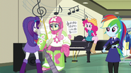 Rarity taking Fluttershy's measurements EG3