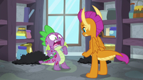 Spike shocked by Smolder's words S8E11