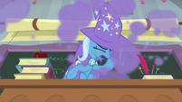 Trixie briefly choking on smoke S9E20