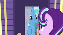 Trixie sees Starlight through the curtain S8E19