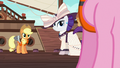 Applejack and Rarity look back at Pinkie Pie S6E22.png