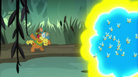 Cattail distracting the flash bees S7E25