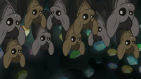 Cave bats awakened by AJ's outburst S9E19