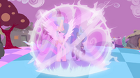 Celestia and Luna preparing to defeat Discord S4E2