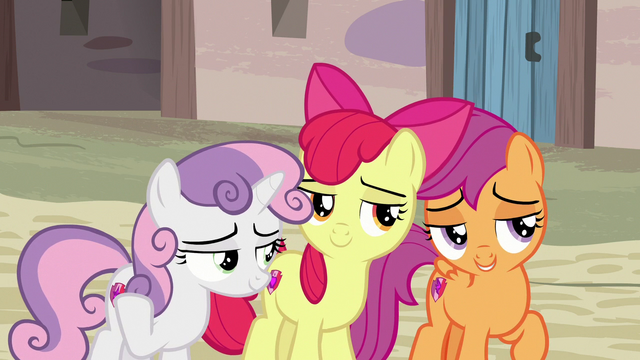 File:Cutie Mark Crusaders giving flirty eyes S7E8.png