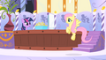 Fluttershy arrives at spa S1E20.png