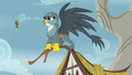 Gabby perched atop a Griffonstone cottage S6E19.png