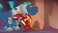 Garble hugging a blue dragon S6E5.png