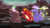 Garble mockingly says Spike's name as --Sparkle-warkle-- S6E5