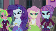 Lemon, Rarity, Fluttershy, and Sunny looking confident EG3