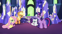 Main four and Spike standing around S9E14