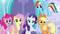 Main four in agreement with Rarity S6E1.png