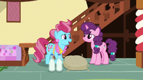 Mrs. Cake talking with Sugar Belle S8E10