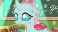 Ocellus crosses in front of Fluttershy MLPS3